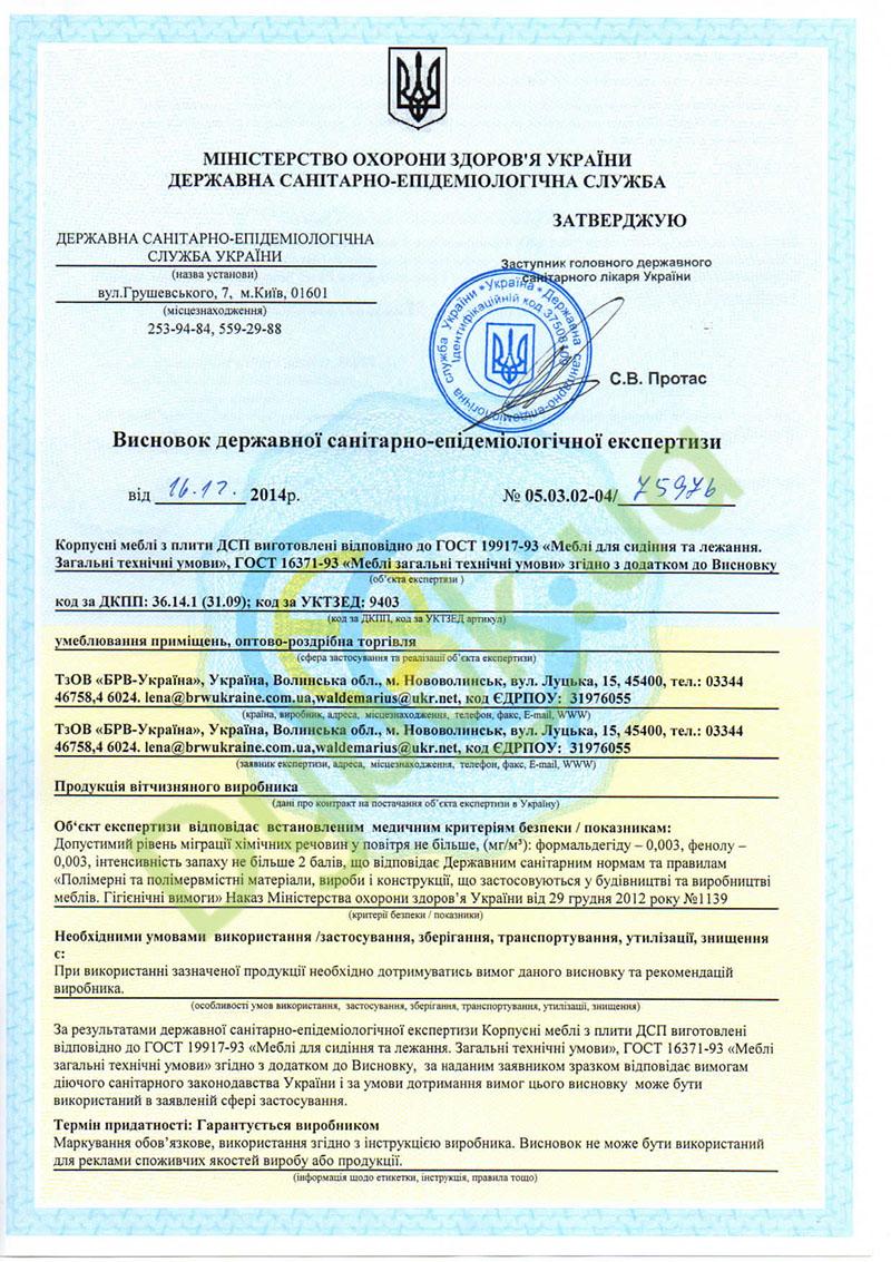 Сертификат BRW