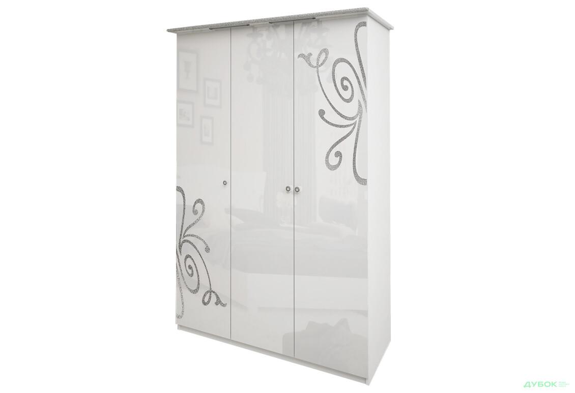 Модульная спальня Богема Шкаф 3Д (без зеркал)