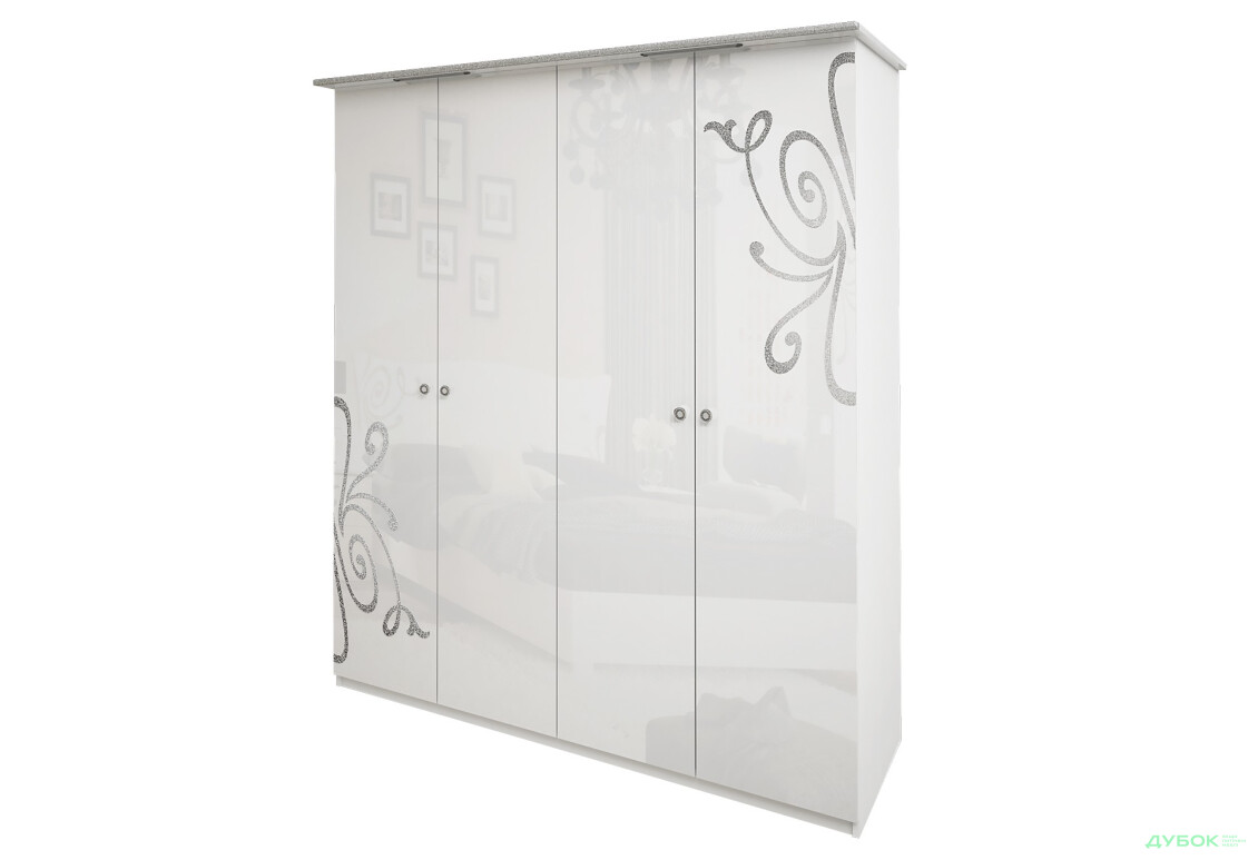 Богема Шкаф 4Д (без зеркал)