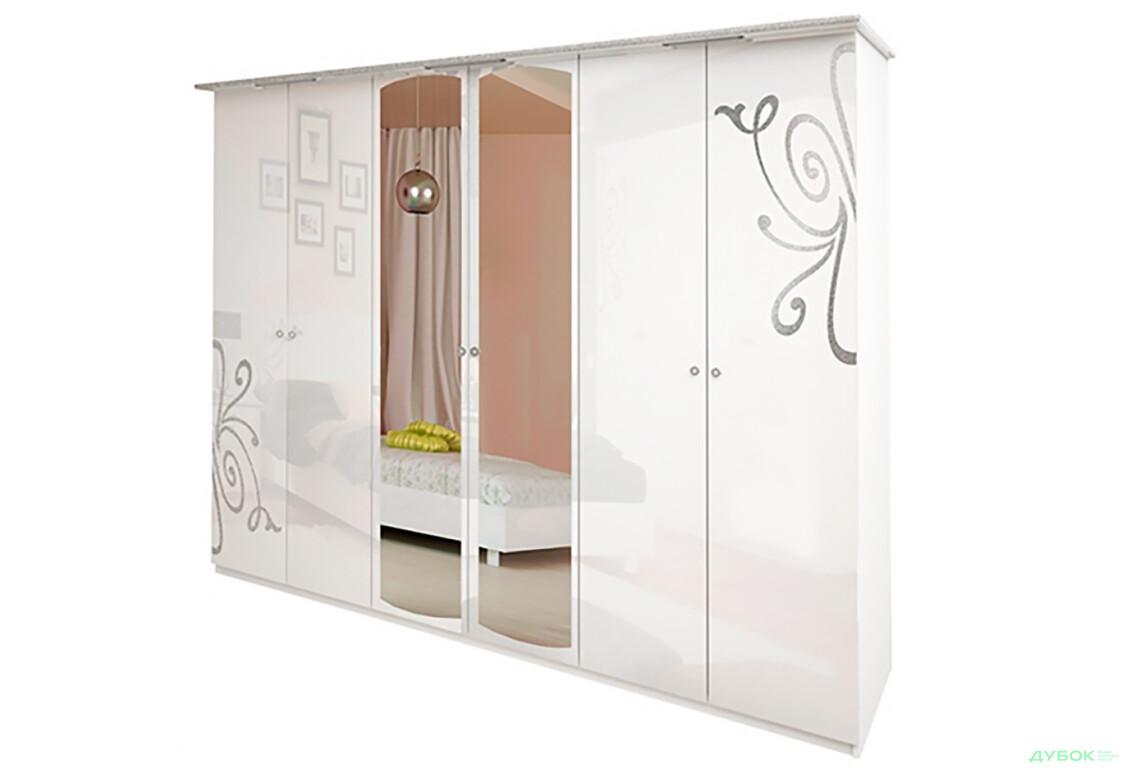Модульная спальня Богема Шкаф 6Д (с зеркалами)