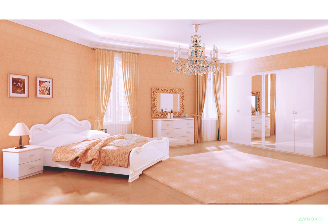 Модульная спальня Комплект 6Д