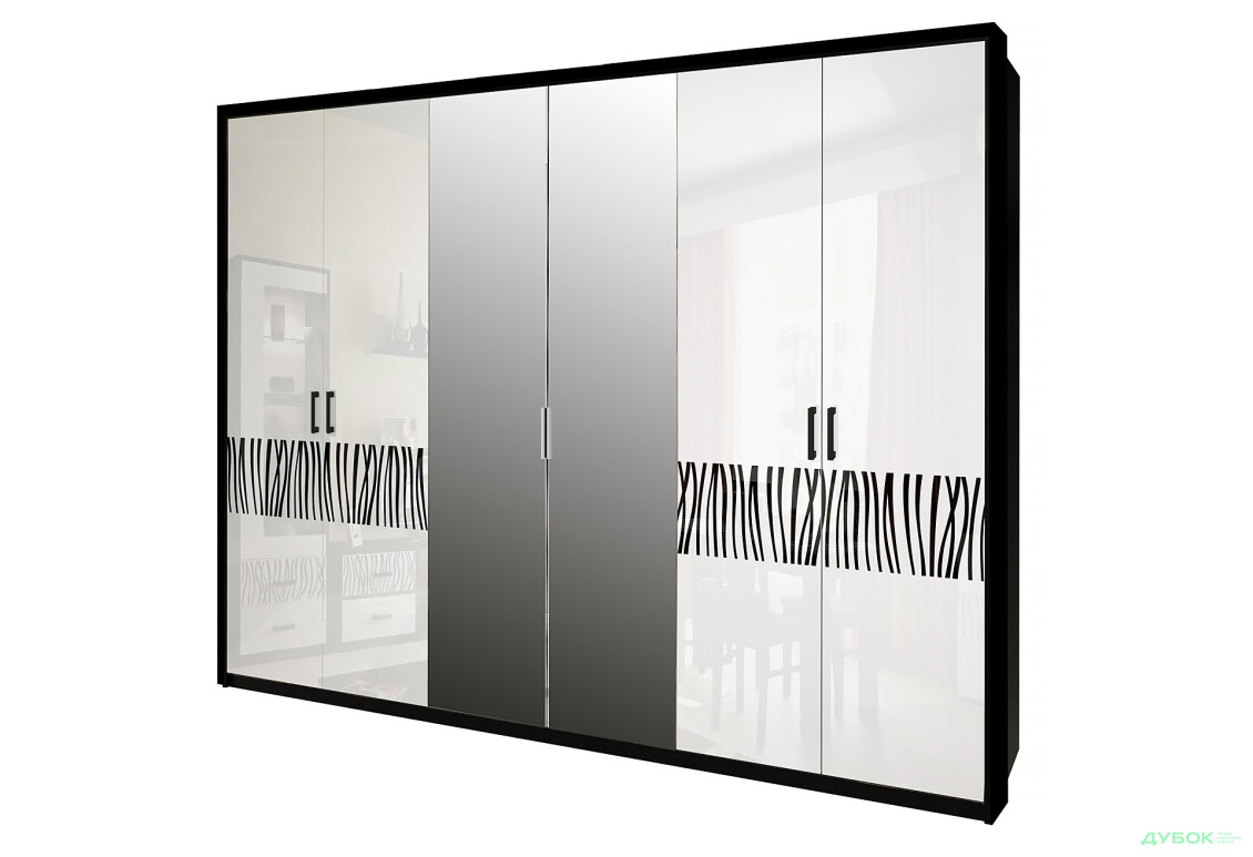 Терра Шкаф 6Д (с зеркалами)
