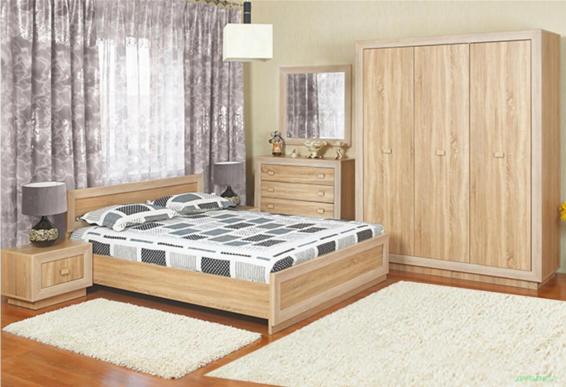 Модульная спальня Корвет акация Спальня 3Д