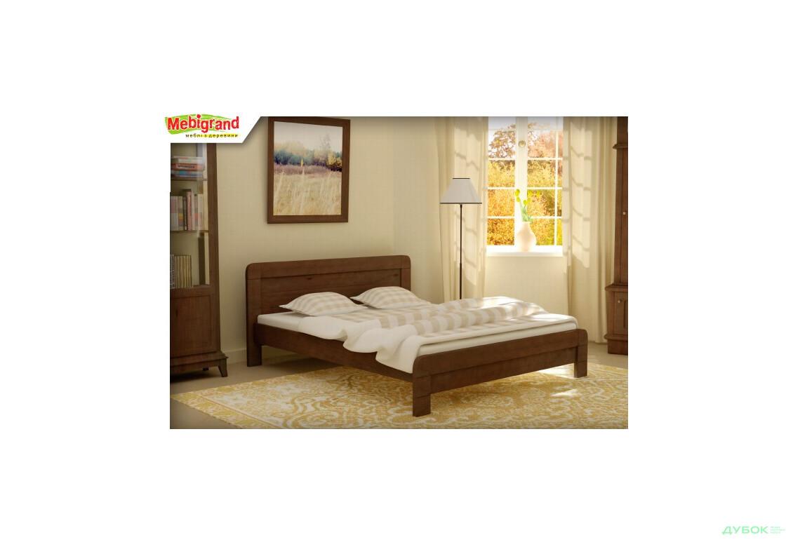 Ліжко двоспальне дерев'яне Тоскана 140