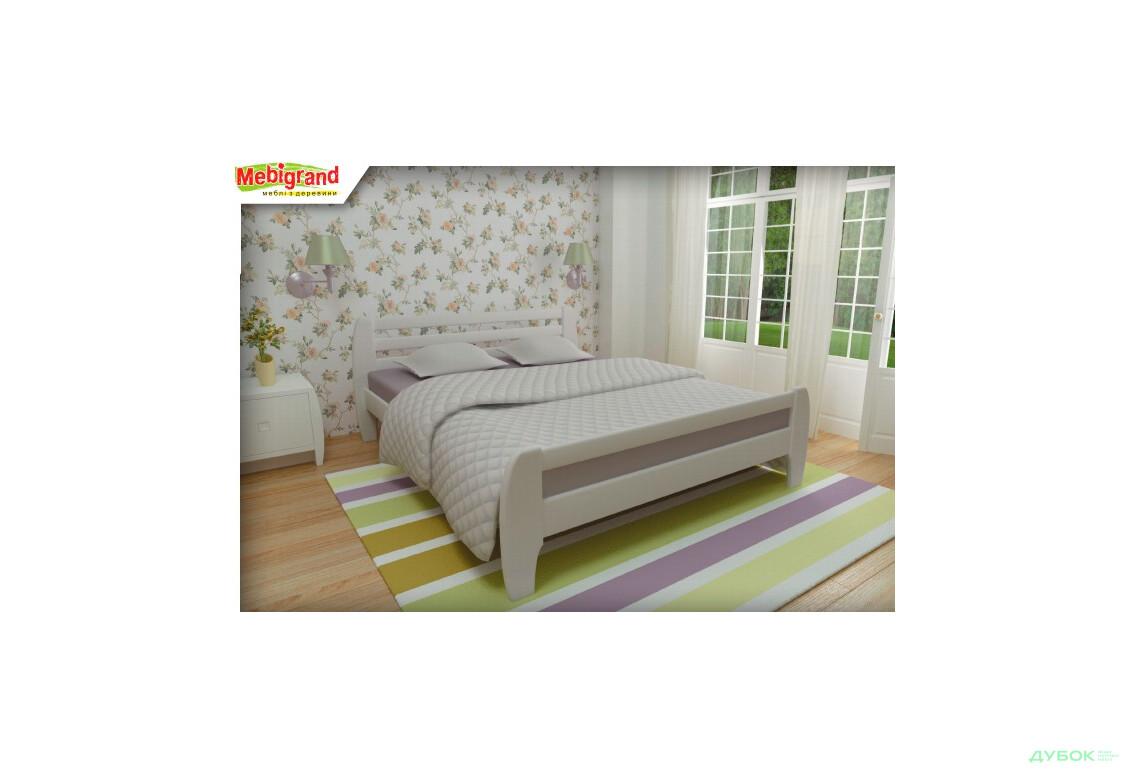 Ліжко двоспальне дерев'яне Мілан 140