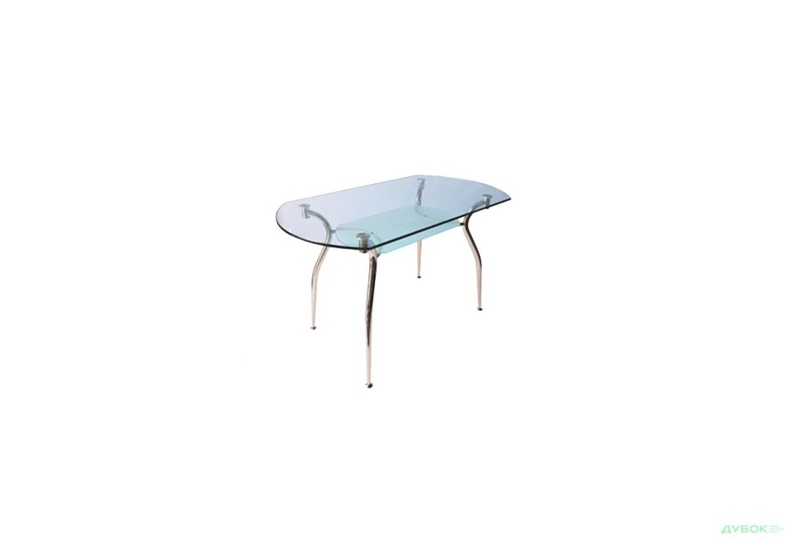 Кристал, 90х65, прямокутний із заокругленими кутами і фігурною поличкою