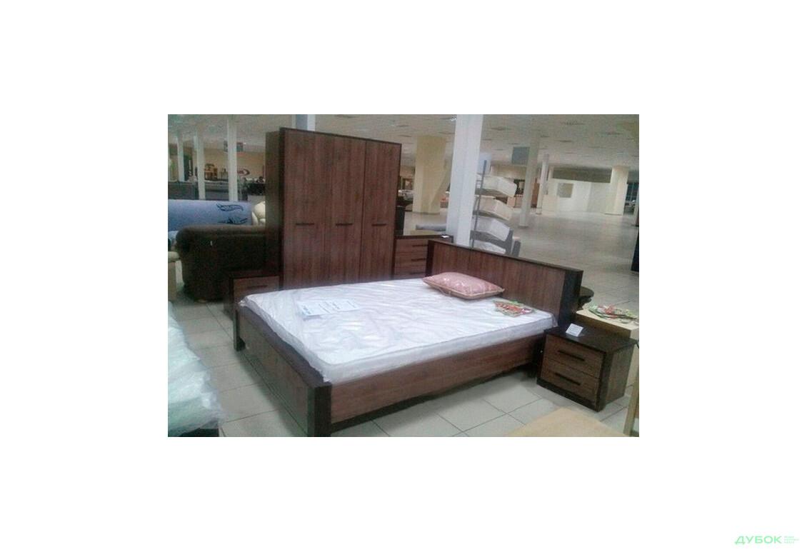 Модульная спальня Рига дуб шамони Комплект 3D