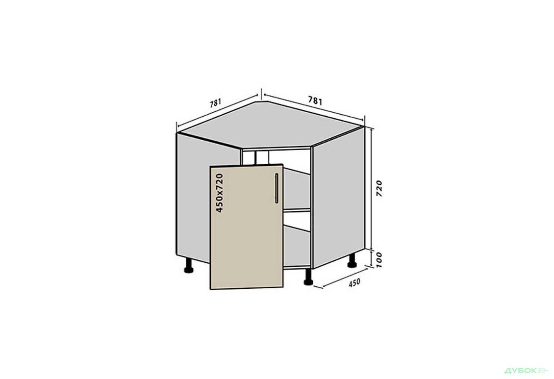 Модульна кухня Колор-міх / Color-mix Н34 Тумба кутова мийка