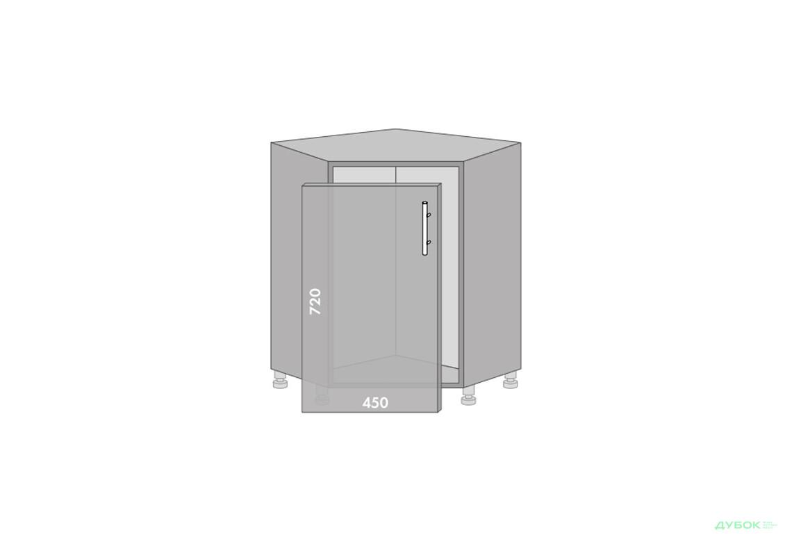 Серія High Gloss Низ 89 кут мийка