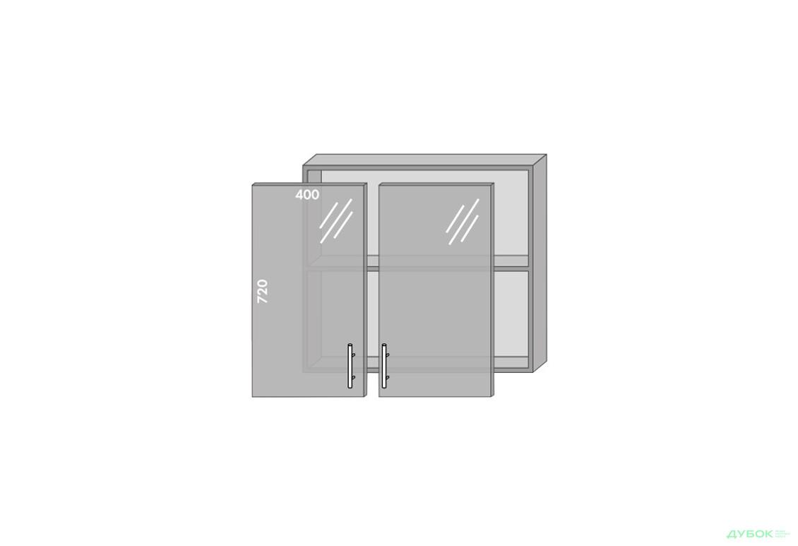 Модульная кухня Серия Prestige Верх 80 витрина