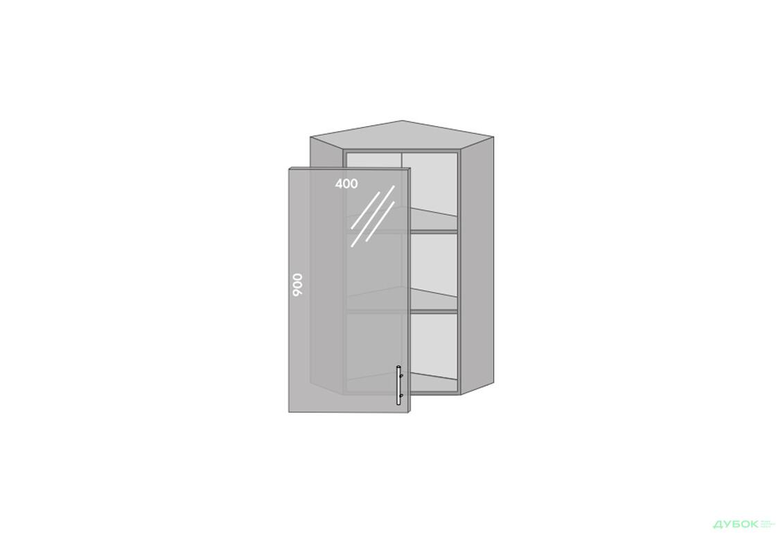 Модульна кухня Серія Prestige Верх 958 кут вітрина