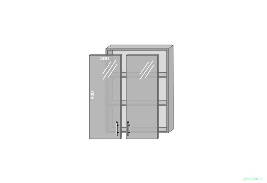 Модульная кухня Престиж Патина / Prestige Патина Верх 960 витрина