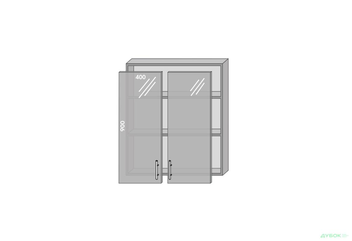 Модульна кухня Серія Prestige Верх 980 вітрина