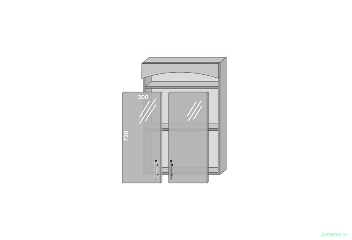Модульная кухня Серия Prestige Верх 964 витрина