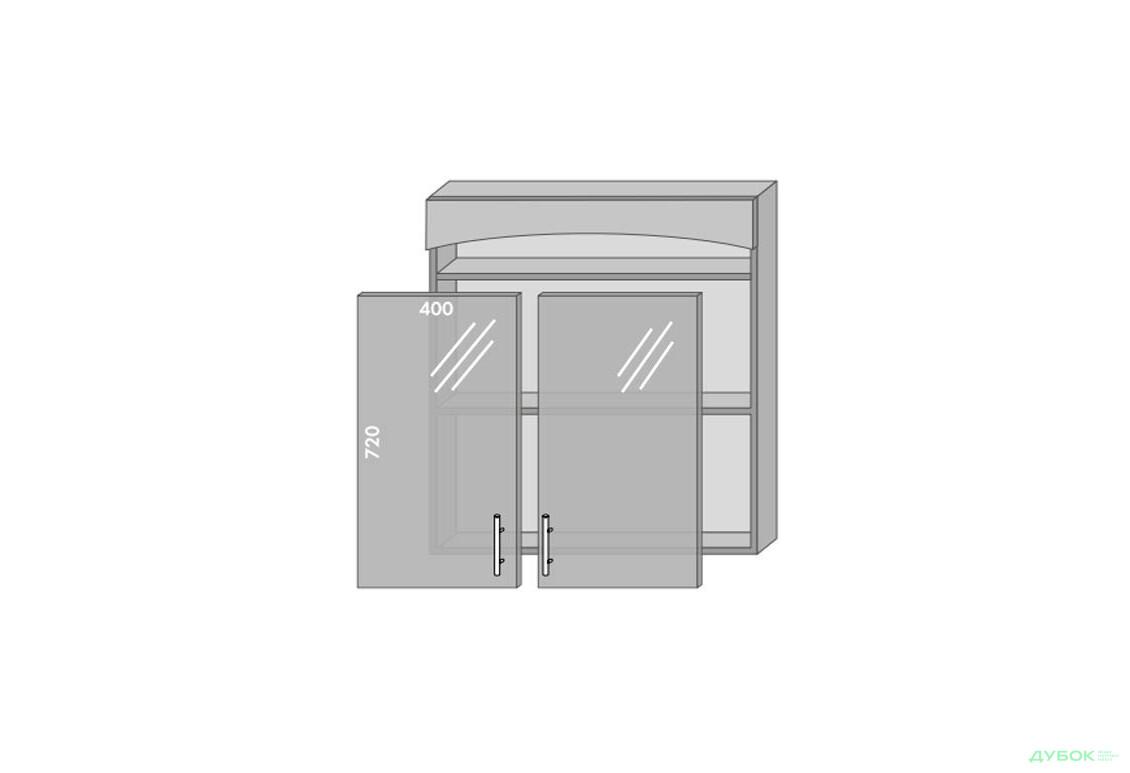 Модульна кухня Серія Prestige Верх 984 вітрина