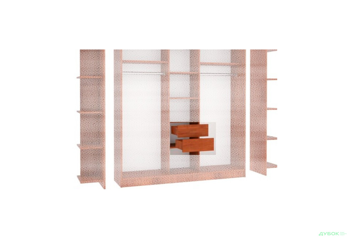 МебельСтар 2D 1600 Шухляда в шкаф 450