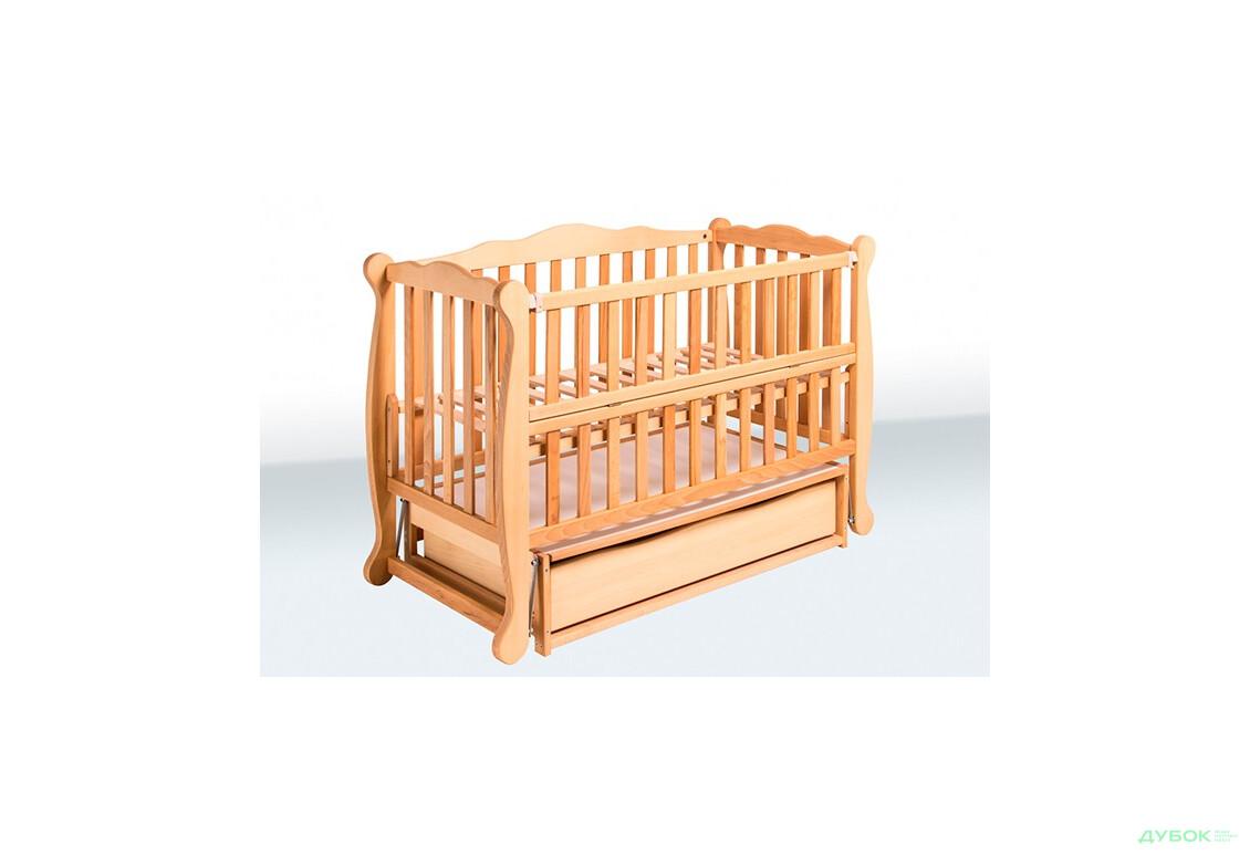 Кровать Натали (пластмассовые шарниры, откидная боковина, шухляда масло) 1В39-2