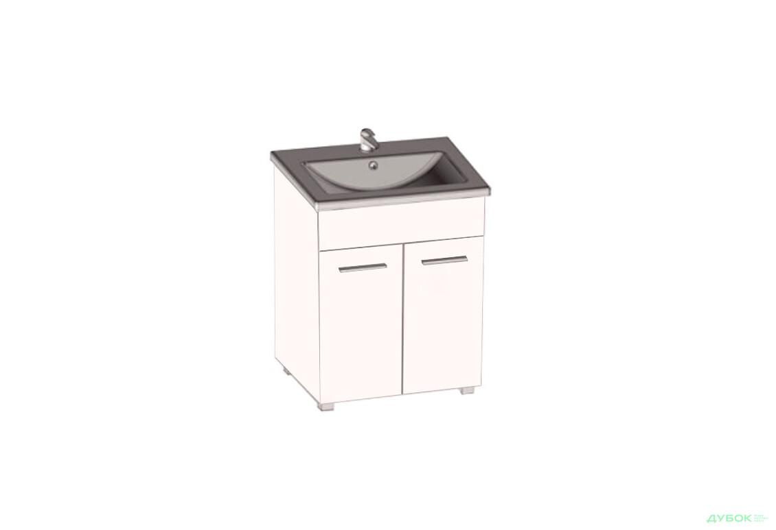 Серія для ванної Фабія (біла) Тумба з умивальником МР 2900