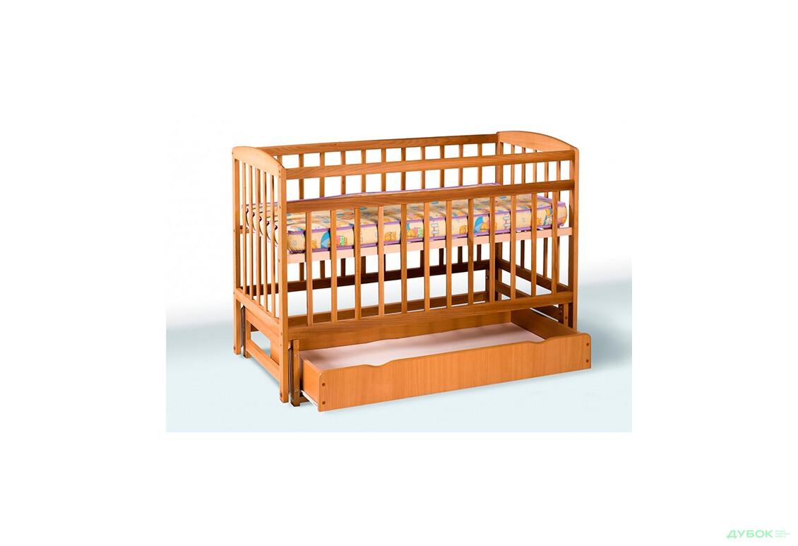 Ліжечко дитяче на шарнірах (з шухлядою) 1В212-2