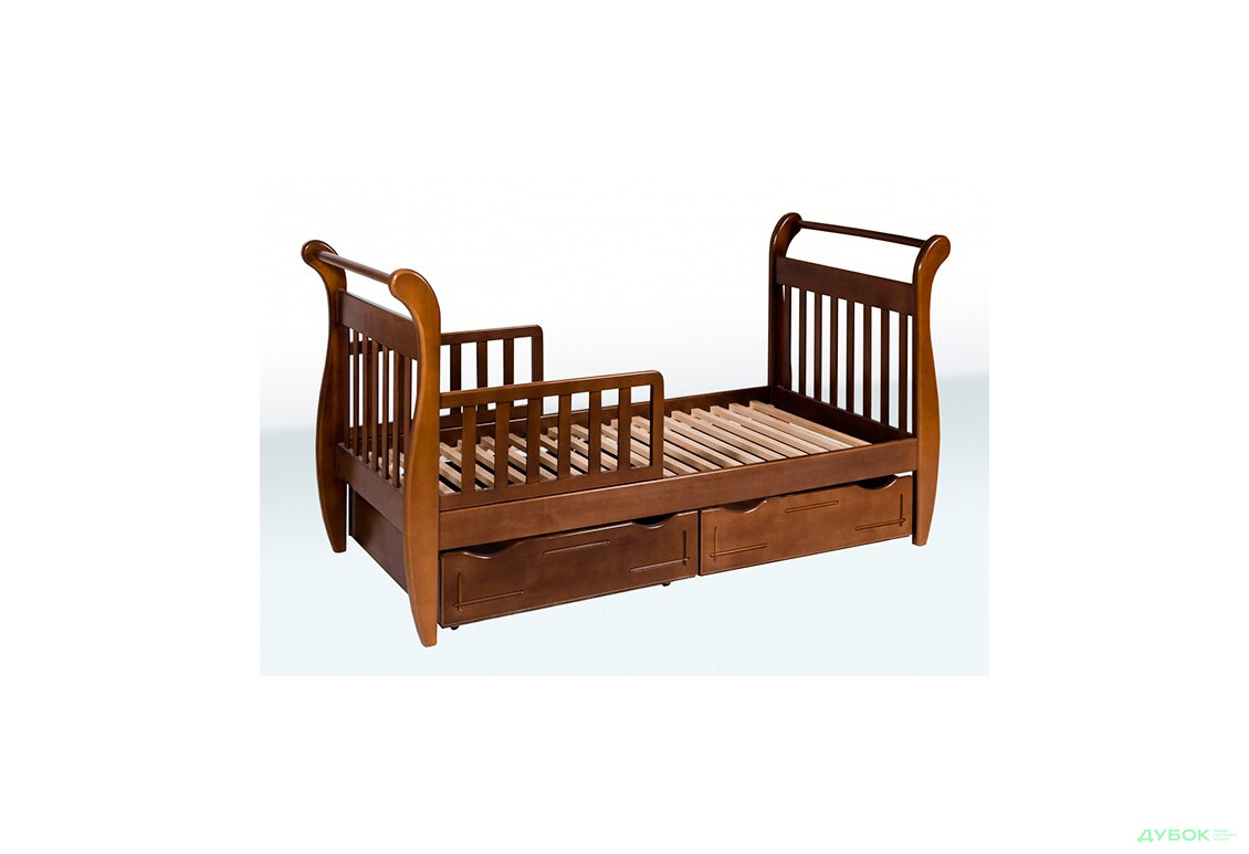 Ліжко-сани з шухлядами 1А33 (бук)