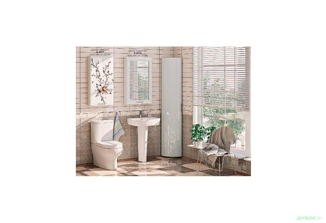 Серія для ванної Комфорт Меблі Комплект ВК-4925 МДФ білий глянець перламутр, сакура
