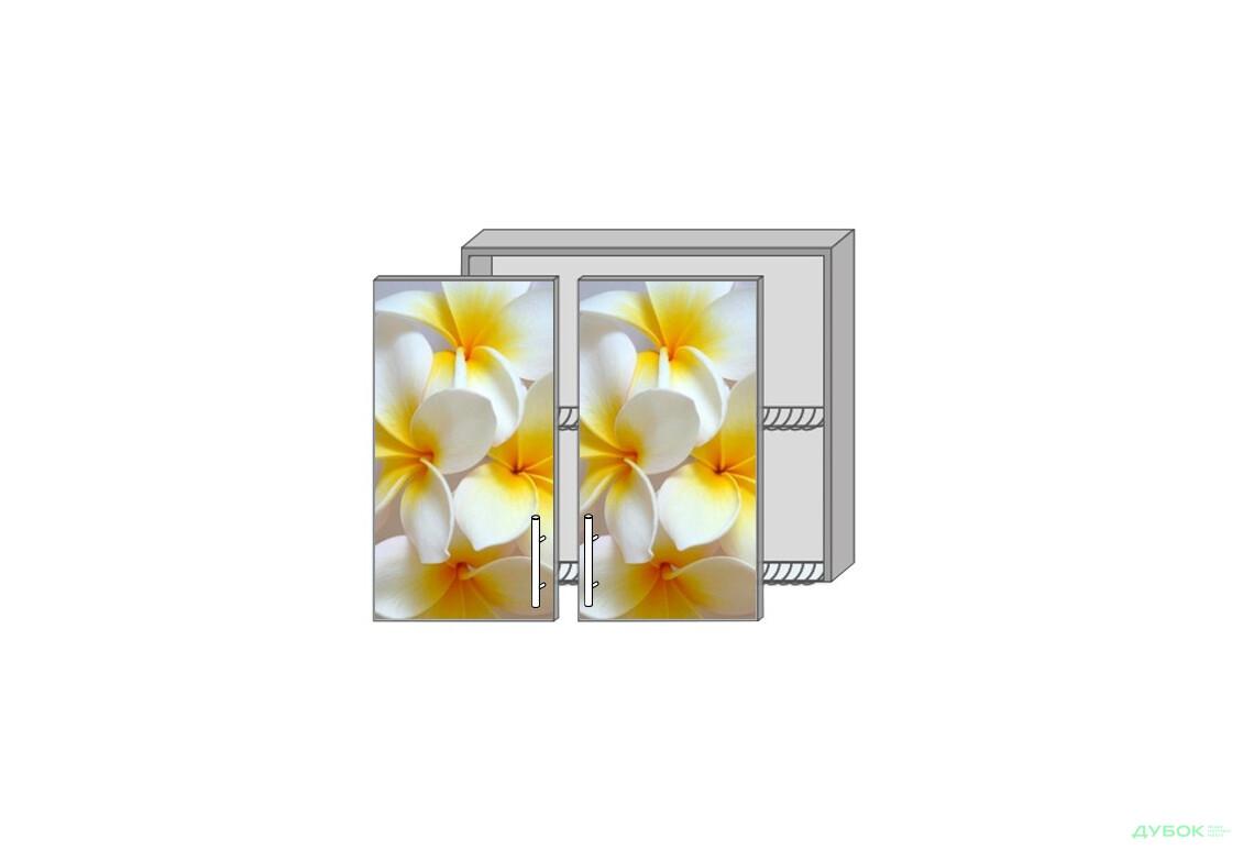 Модульная кухня Серия High Gloss Верх 81 сушка витрина фотодрук