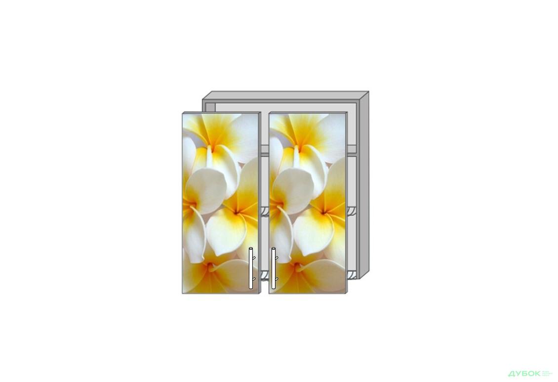 Модульная кухня Серия Mirror Gloss Верх 981 витрина-сушка фотопечать