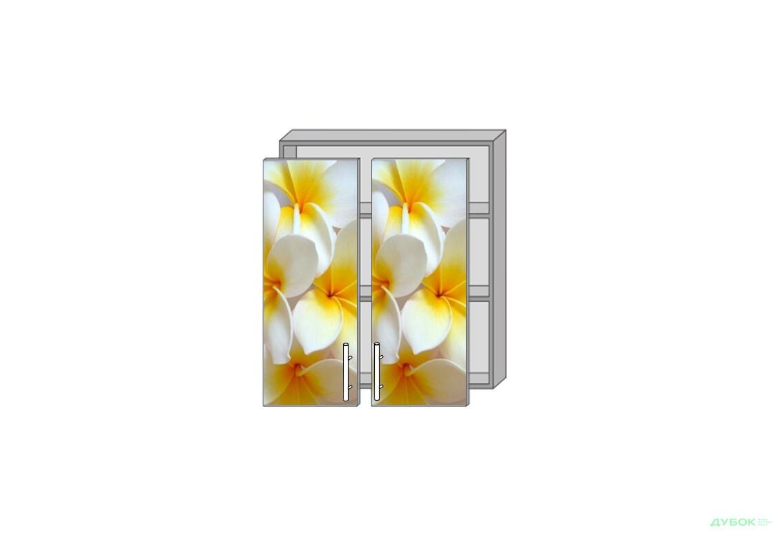 Модульная кухня Серия Mirror Gloss Верх 980 витрина фотопечать
