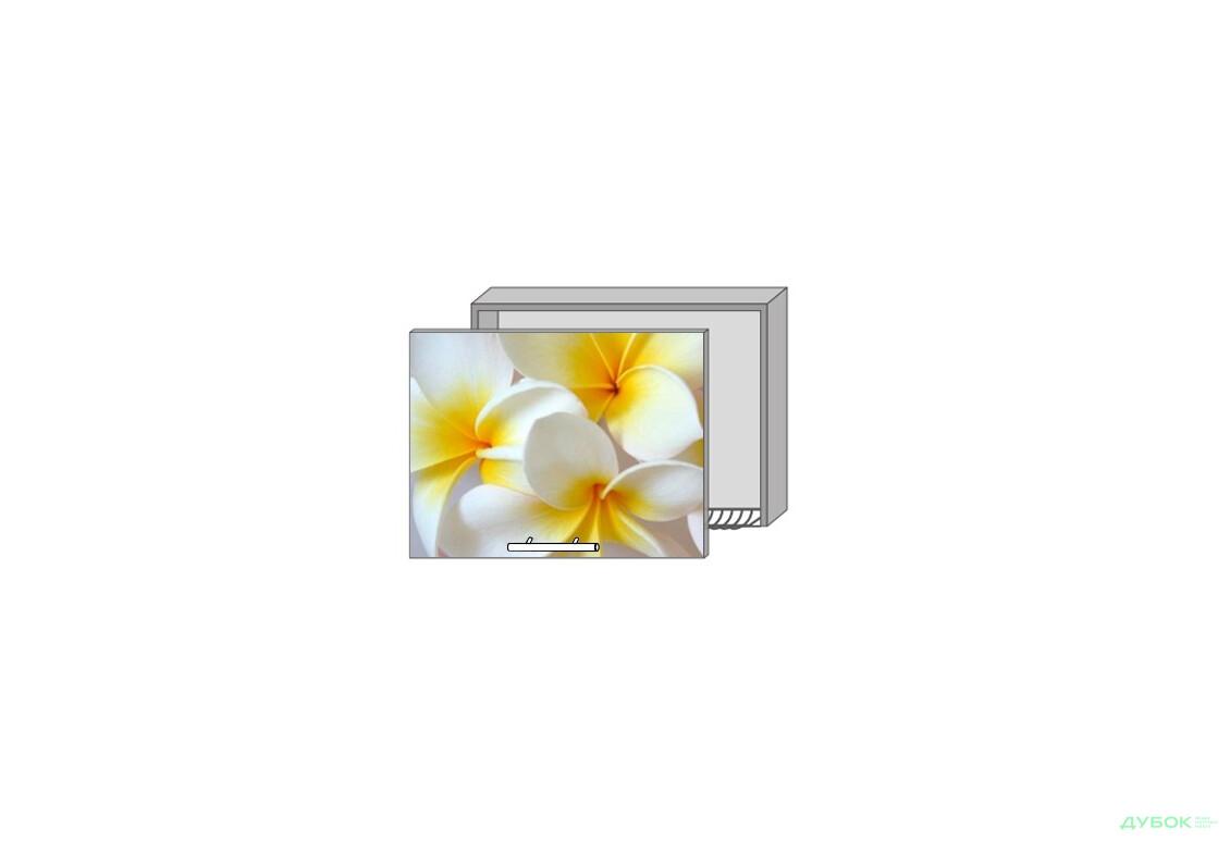 Модульная кухня Серия Mirror Gloss Верх 963 витрина-сушка фотопечать