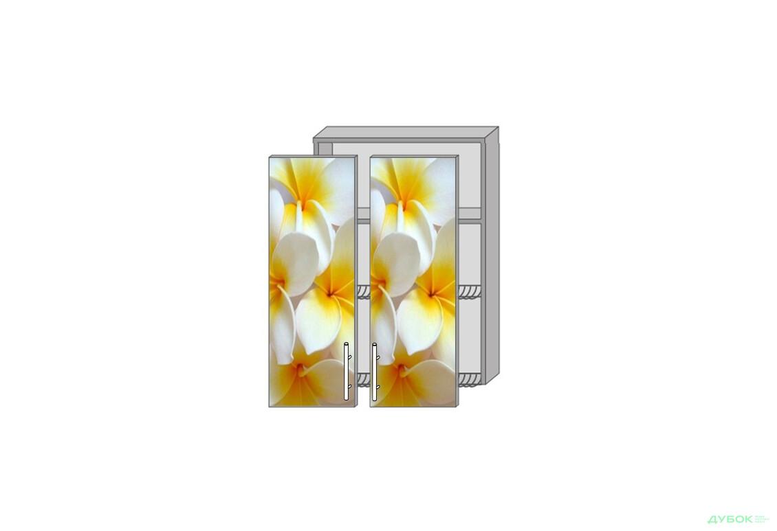 Модульна кухня Серія Mirror Gloss Верх 961 вітрина-сушка фотодрук