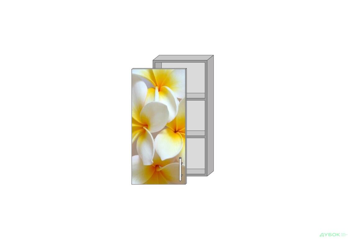Модульная кухня Серия Mirror Gloss Верх 940 витрина фотопечать