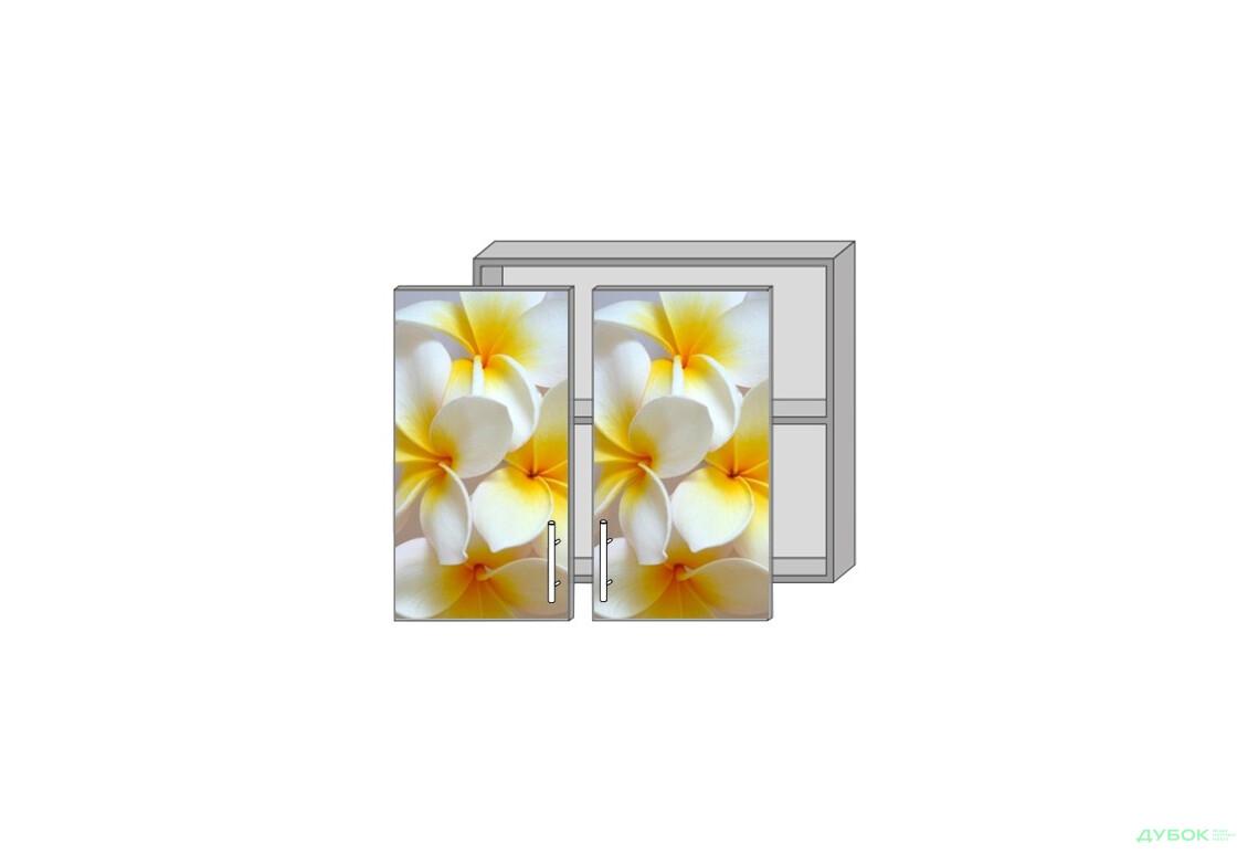 Модульная кухня Серия Mirror Gloss Верх 80 витрина фотопечать