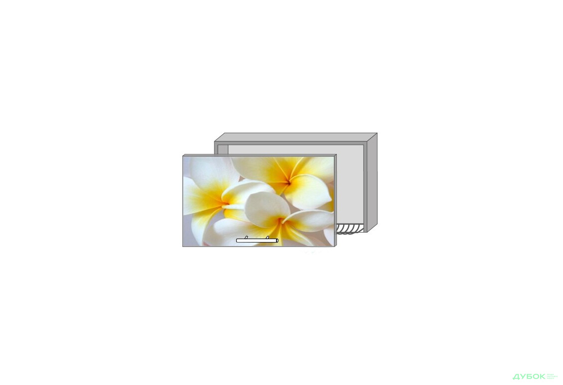 Модульна кухня Серія Mirror Gloss Верх 63 вітрина-сушка фотодрук