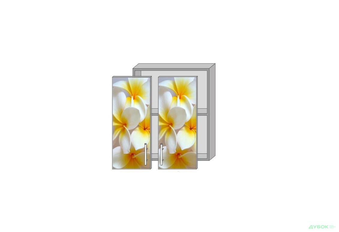 Модульная кухня Серия Mirror Gloss Верх 60 витрина фотопечать