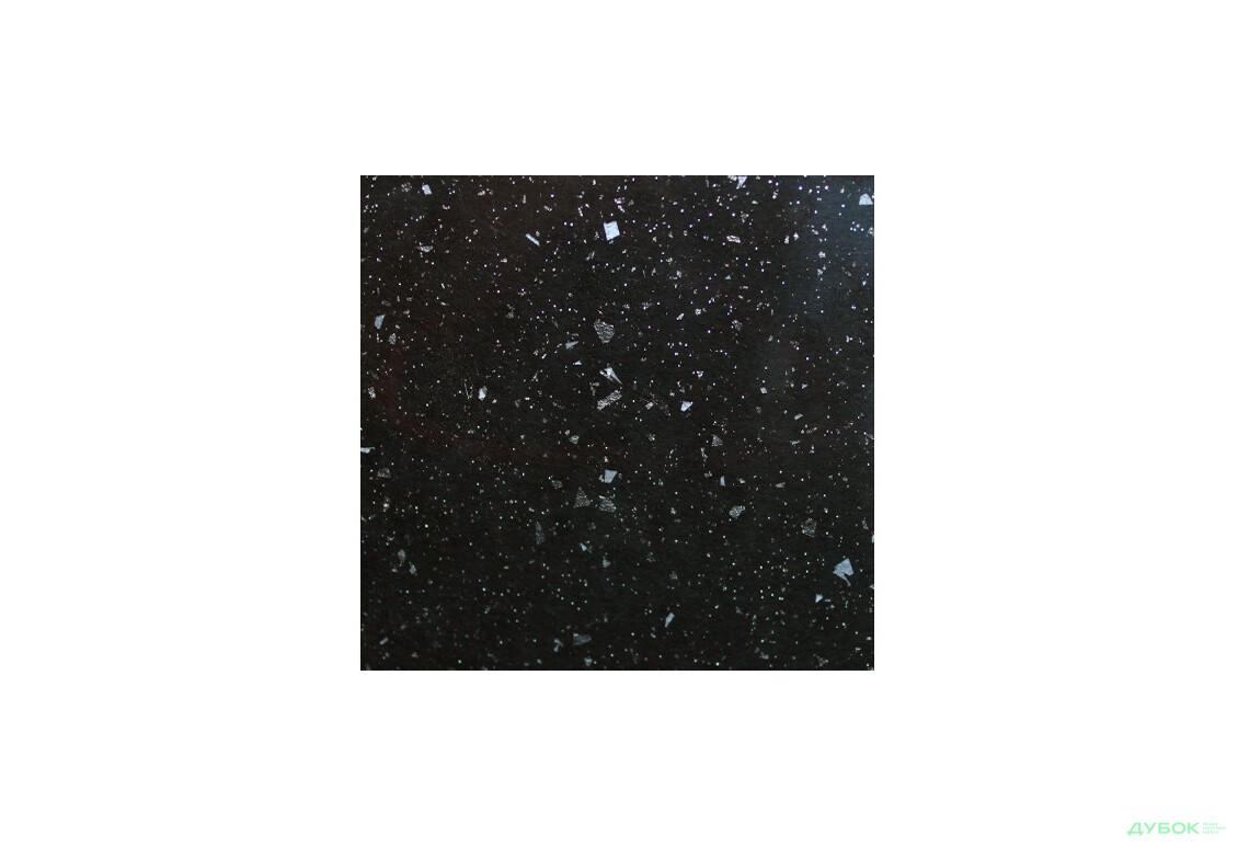 6293 SQ  столешница Стардаст черный глянец 38 мм