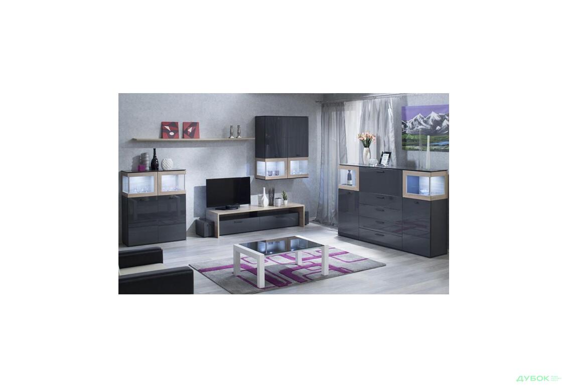 Модульная гостиная Вита 2 (серая)