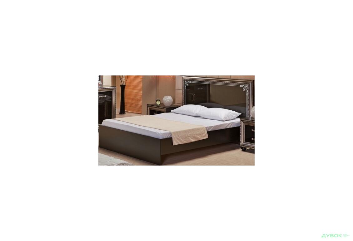 Ліжко 160 + ламелі (зебравуд/ білий)