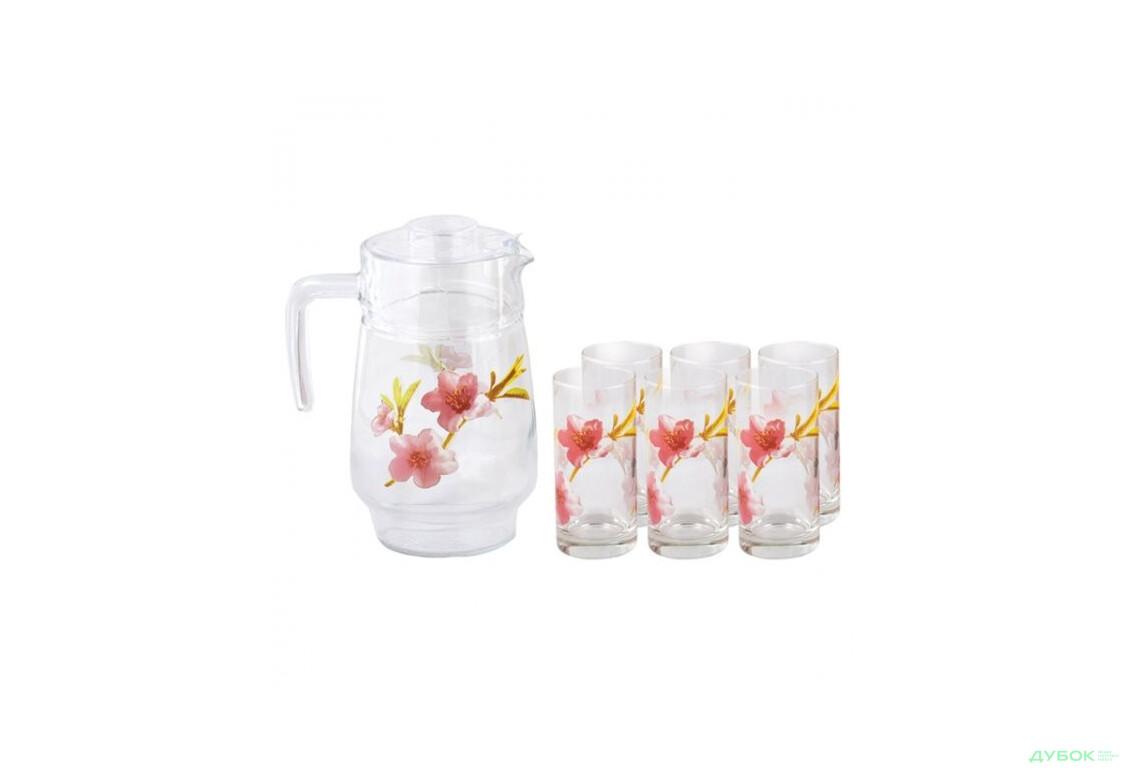 Набір для соку Luminarc Water Color (кувшин 1,6л. + склян. 270мл. 6шт.) 7пр.