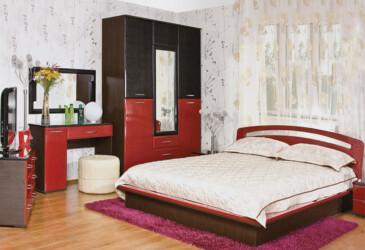 Модульная спальня Верона Лак Лилия БМФ