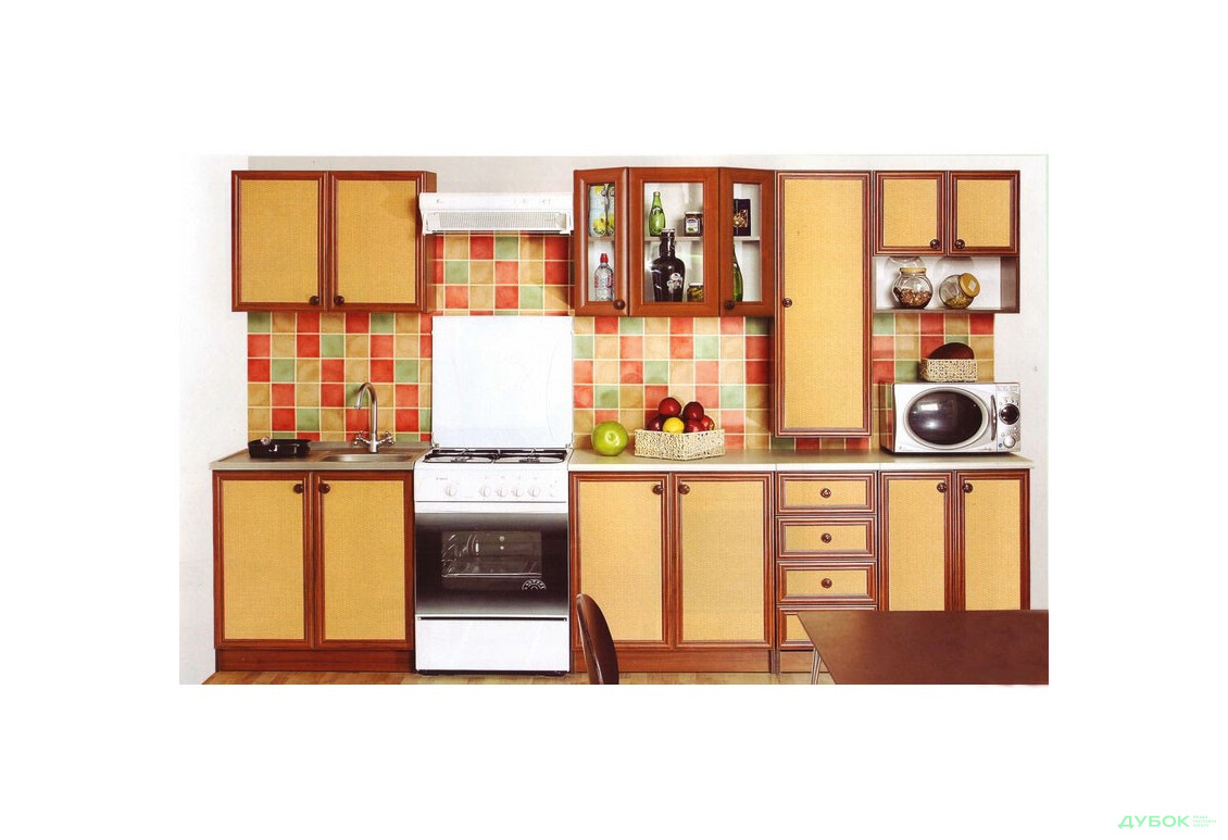 Кухня Тина Нова Ротанг с пеналом 2.6 НФ