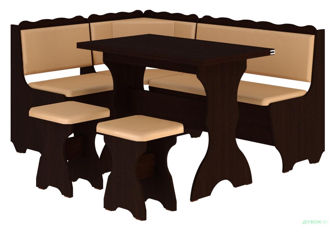 Кухонный уголок Граф (с раскл.столом)