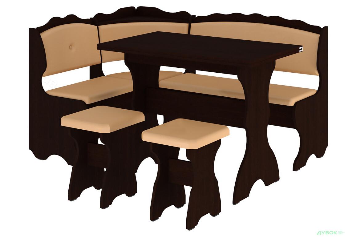 Кухонный уголок Цезарь (с раскл.столом)