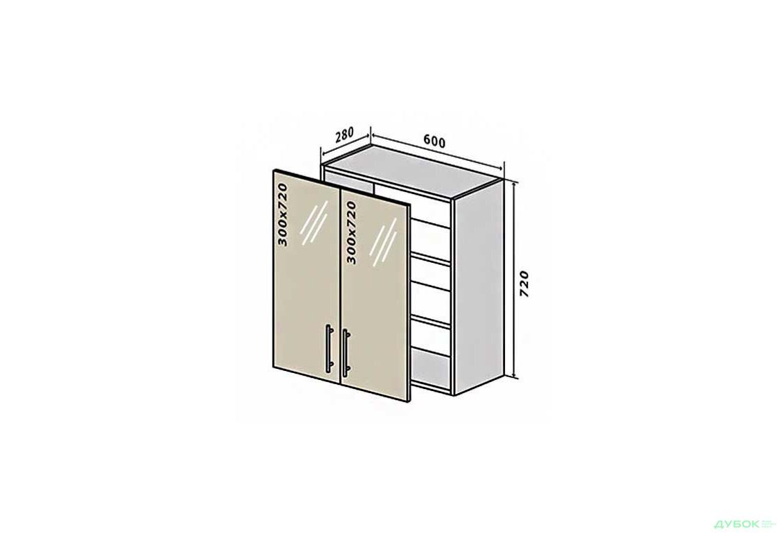 МоДа / MoDa В6 Тумба витрина 2Д 60