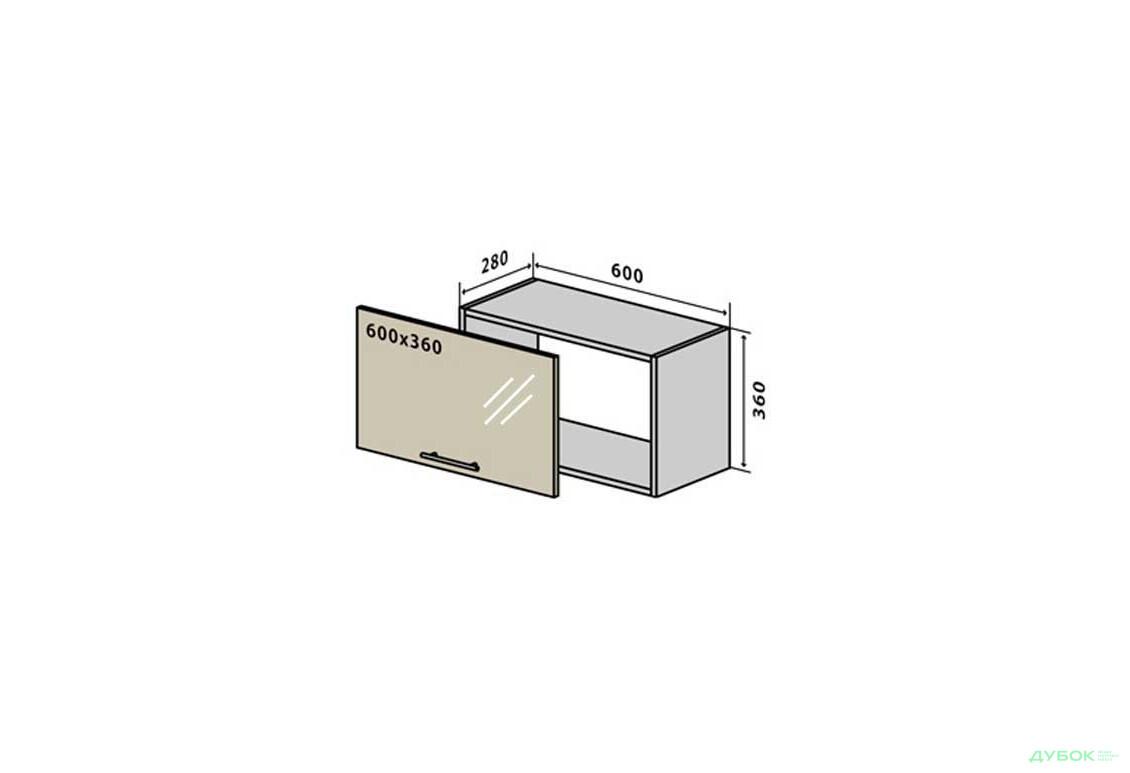 МоДа / MoDa В10 Тумба низкая витрина 60