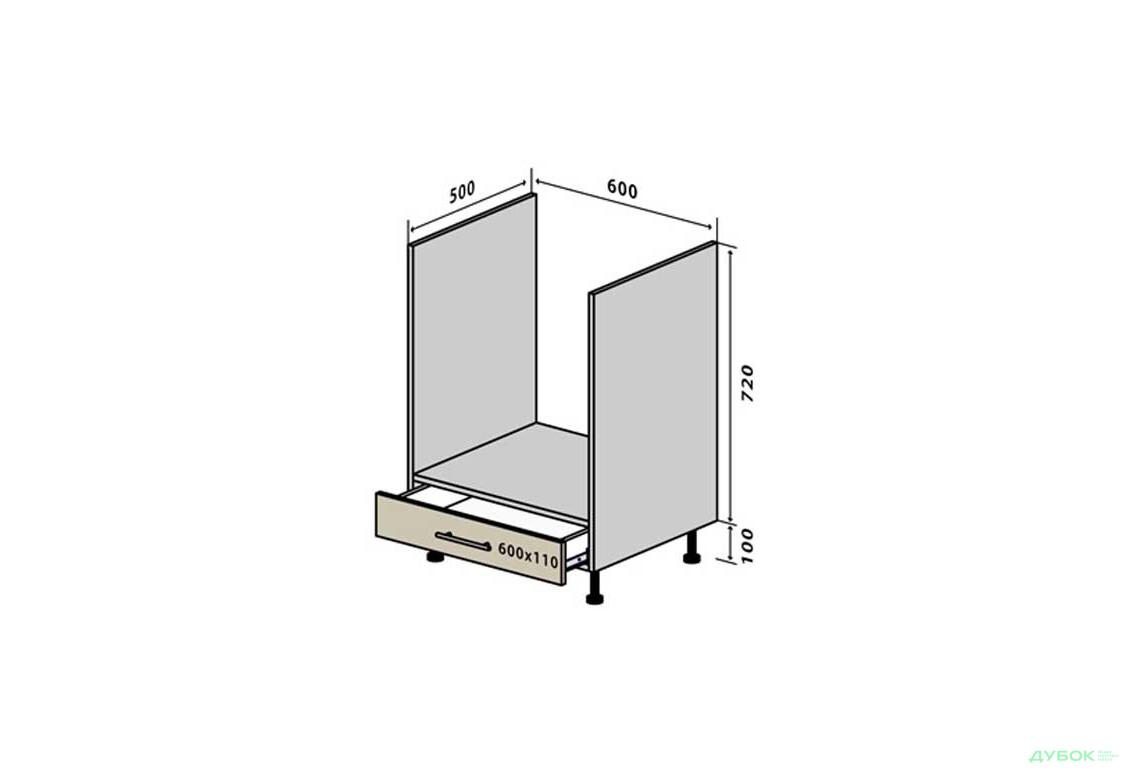 Модульная кухня МоДа / MoDa Н12 Тумба для духовки 1Ш