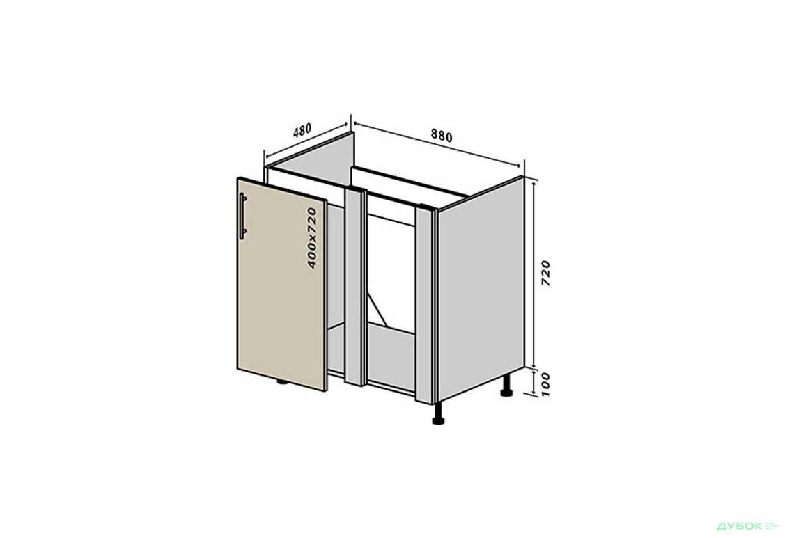Модульна кухня МоДа / MoDa Н15 Заглушка мийка 1Д 88