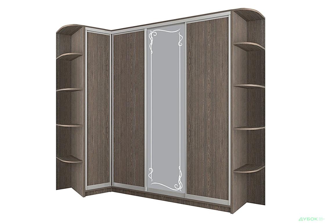 Шкаф-купе угловой 8 Комплект 120х270: 3 ДСП + Зеркало с матированием + 2 Угла