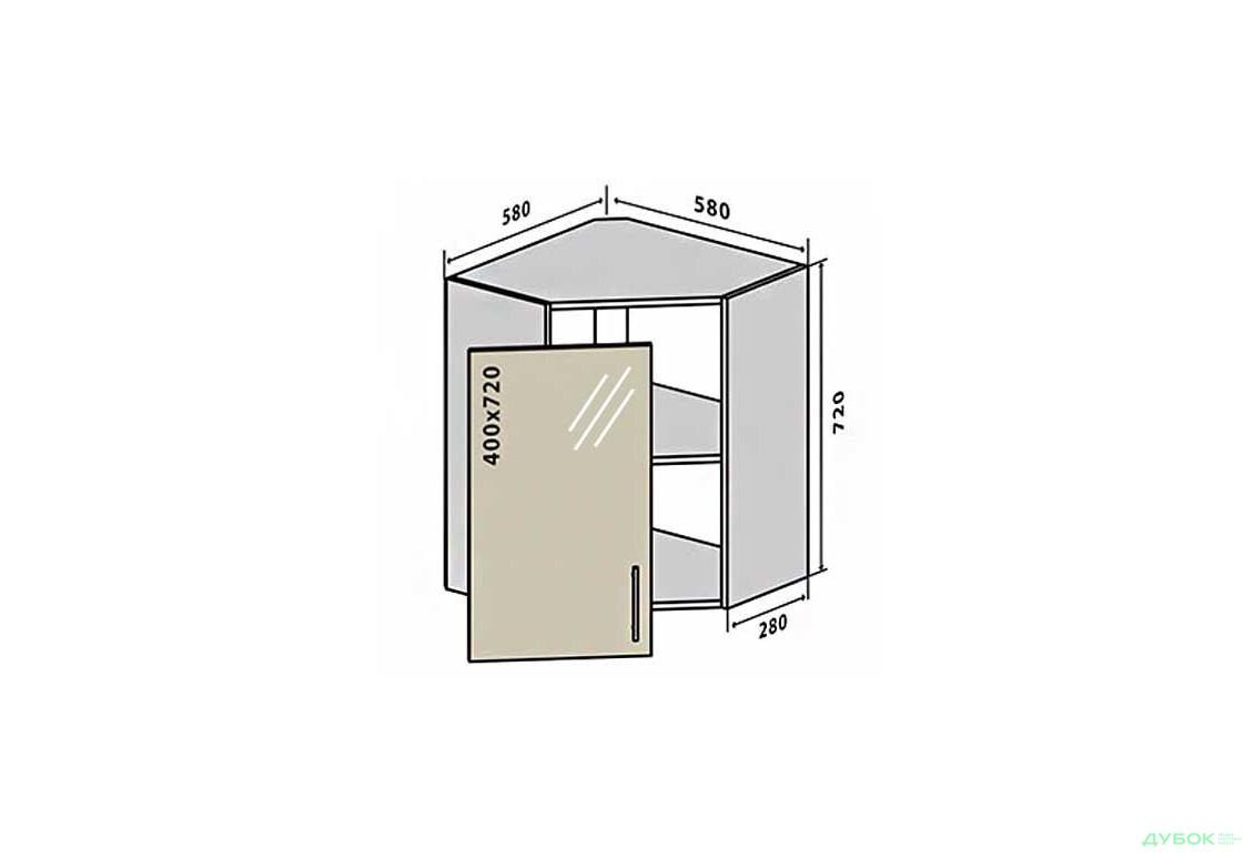 Модульная кухня Грация В14 Тумба угловая 1Д витрина