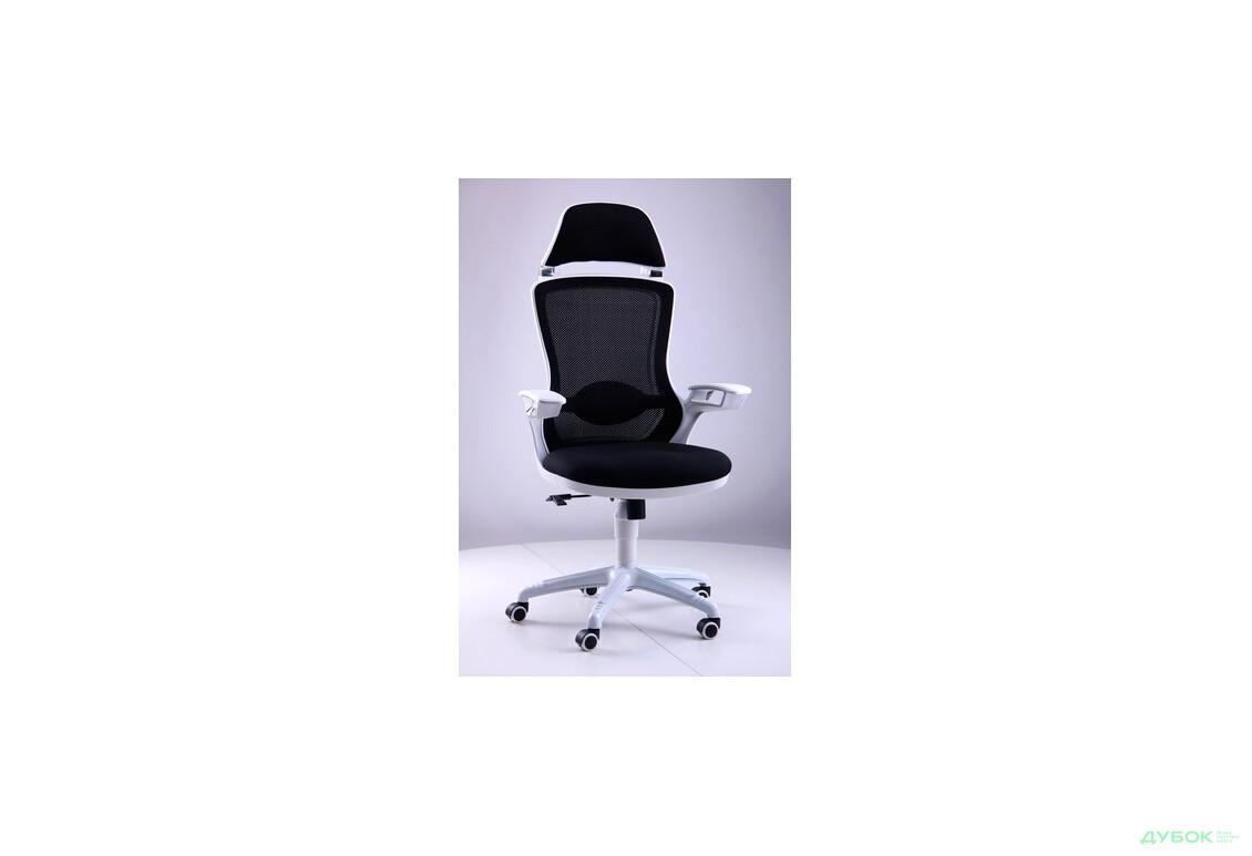 Кресло Boomer сетка черная, каркас белый арт. 512454