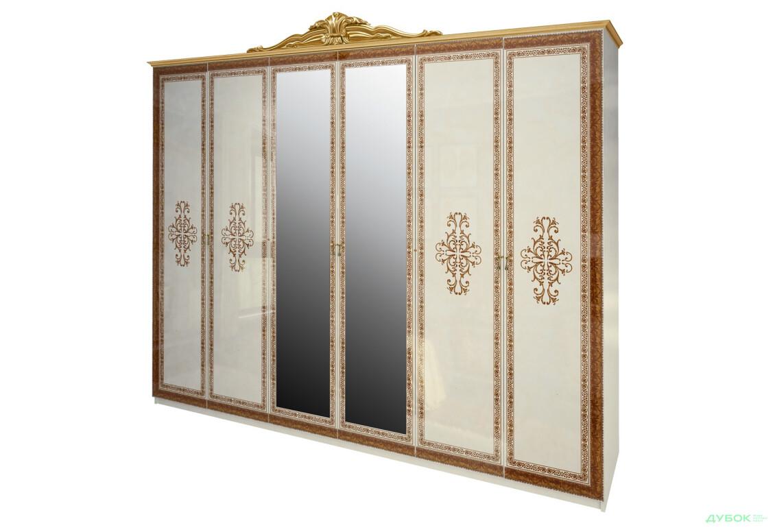 Модульная спальня Дженнифер Шкаф 6Д с зеркалами